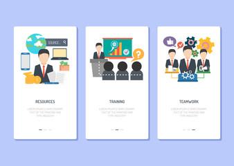 Landing Page Design - Resource, Training and Teamwork