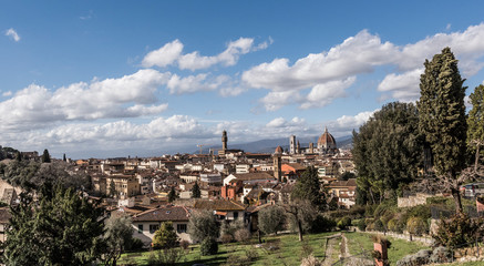 View of Florence City with dome of Florence Cathedral in view, I