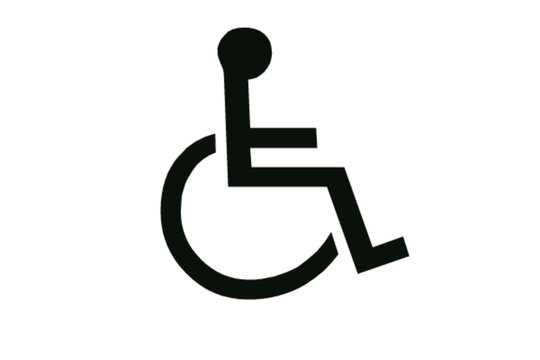 symbol reserved for disabled people or handicap