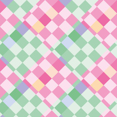 Pattern of bright pink and green rhombuses