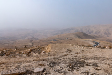 """View of the """" promised land"""" from Mount Nebo, Jordan."""