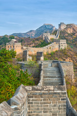 Fotobehang Chinese Muur The beautiful great wall of China
