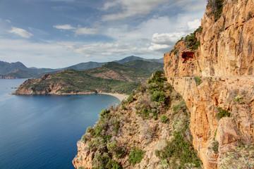 Paysages de Corse-Golfe de Porto-Route vers Calvi