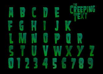 The Creeping text Horror alphabet - 3d Illustration