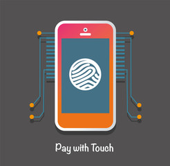 Mobile payment in security mode concept.