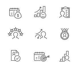 Employee Performance Icons