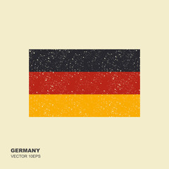 Vector Germany flag, Germany flag illustration in flat style with scuffed effect