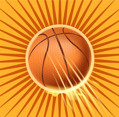 basketball fire symbol