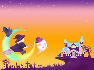 ハロウィンハウスに向かう魔女達