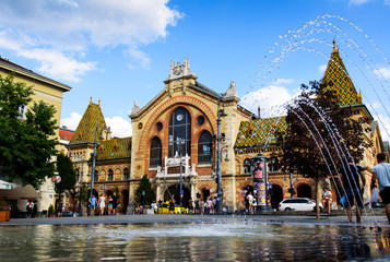 Printed kitchen splashbacks Budapest The Great Market Hall in Budapest an old market place and a tourist attraction