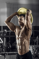 guy bodybuilder with barbell