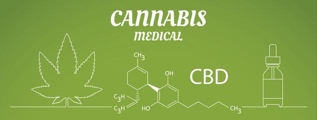 Medical Marijuana Cannabis Oil Extract In Bottle vector