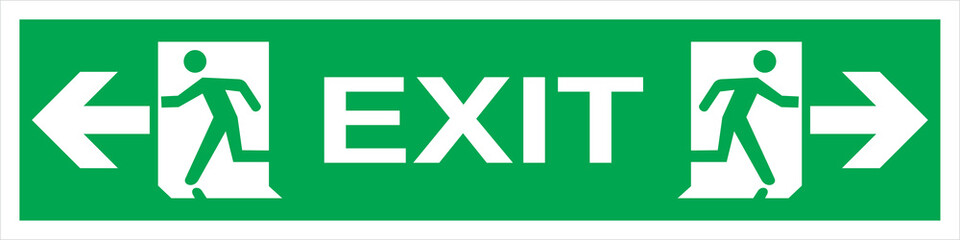 fire emergency exit sign Wall mural