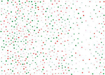 Festival pattern with color round glitter, confetti. Random, chaotic polka dot. Christmas color red and green