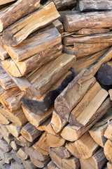 Firewood stacked in a pile