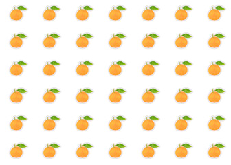 orange mandarin set citrus fruit symmetrical pattern bright background base decoration design