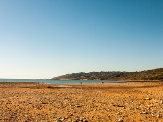 jurassic coast Charmouth dorset cliffs rocks landscape nature tourist people holiday destination fun recreation ocean