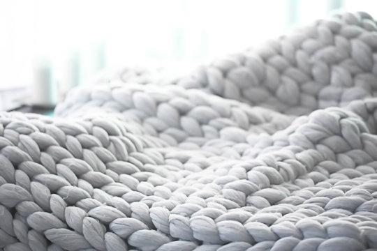 gray plaid close-knit / background texture woolen cozy plaid