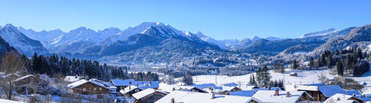 herrlicher Wintertag im südlichen Oberallgäu