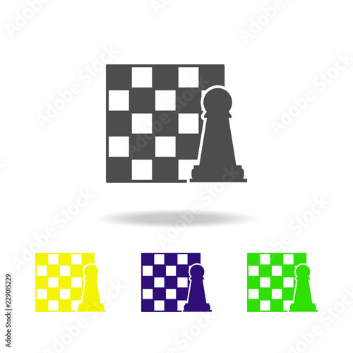 chessboard and figure color icon  Element of chess for mobile