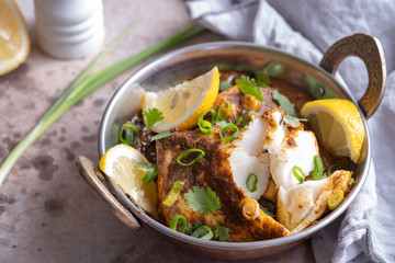 Spicy and tasty Fish curry dish.