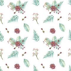 watercolor seamless pattern lotus