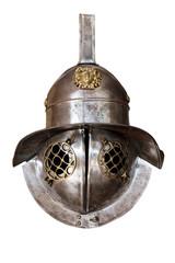 Murmillo helmet. Ancient roman gladiator reconstruction