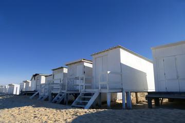 Chalets de plage à Blériot Plage