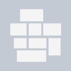 Blank white paper photo frames. Presentation photography portfolio or gallery
