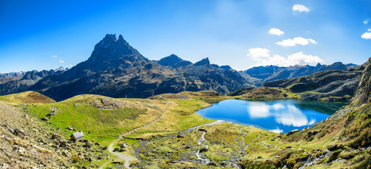 view of Pic Du Midi Ossau, France, Pyrenees