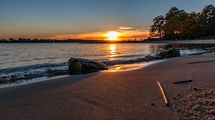 schöner Strand von Wedel