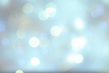 Abstract colorful vivid blur blue texture background with white and blue bokeh circles in soft color style. Template for your product display montage. Beautiful texture.