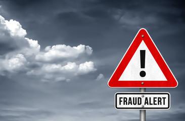 Fraud Alert warning sign