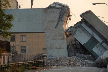 morandi collapsed bridge in genoa