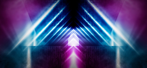 Background wall with neon lines and rays.