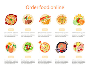 Web banner design template for order food