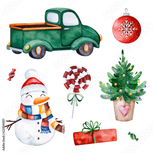 bright collection with christmas treecandytruckgiftssnowman and more