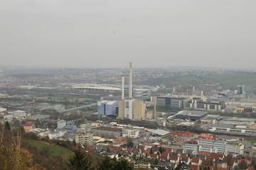 view above city stuttgart
