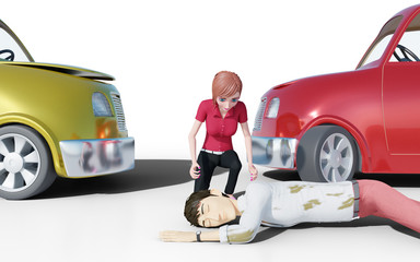 Car wreck accident with injuries