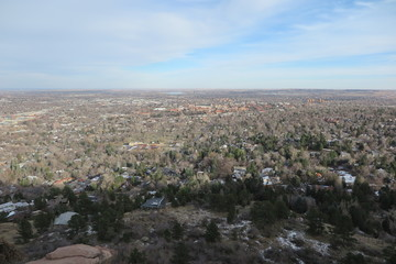 view over boulder