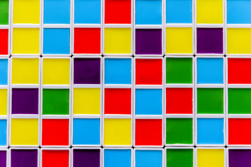 Abstract geometric background of brightly colored squares