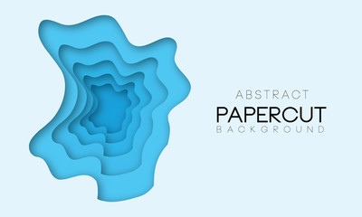 Abstract shapes in different blue colors. Background for banner, presentations, flyers, posters.