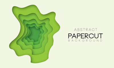 Abstract shapes in different green colors. Background for banner, presentations, flyers, posters.