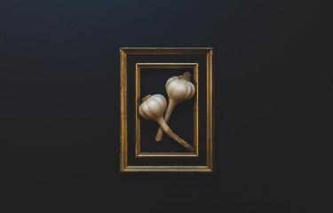 Framed Garlic Fotobehang