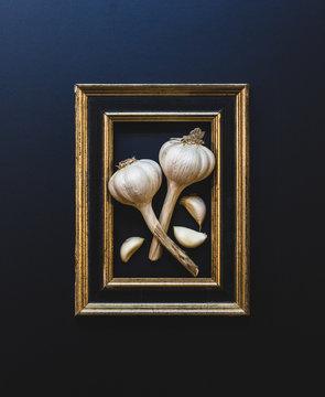 Framed Garlic and Cloves