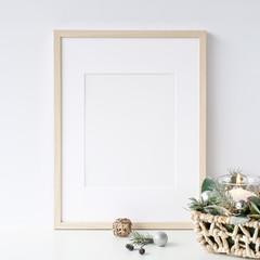 Frames Christmas Mockup. Scandinavian style.