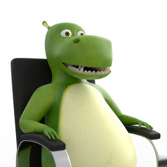 Hippo Relaxing in Chair