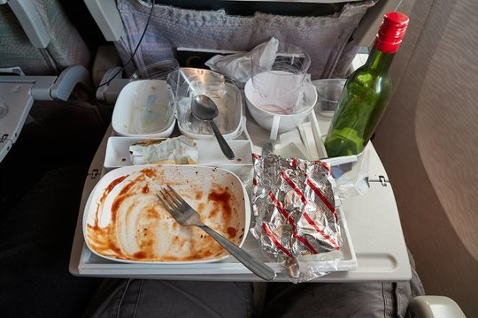 Airline food consumed