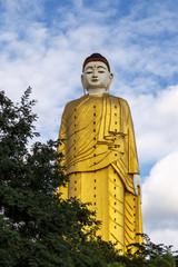 Gigantic standing Buddha- skyscraper statue (170 m height) in Myanmar (Burma) near Monywa, Travel Asia.
