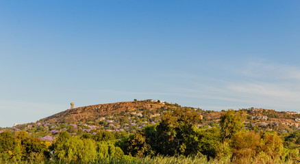 Northcliff Water Tower view as seen from park in  Fairland Johannesburg